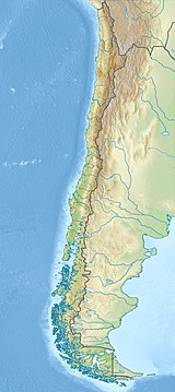 Map showing the location of Lauca National Park