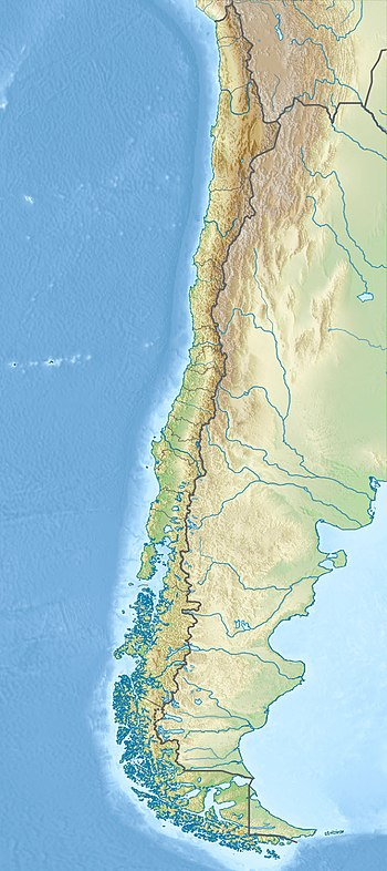 Relief Map of Chile