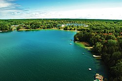 Skyline of Elkhart Lake, Wisconsin