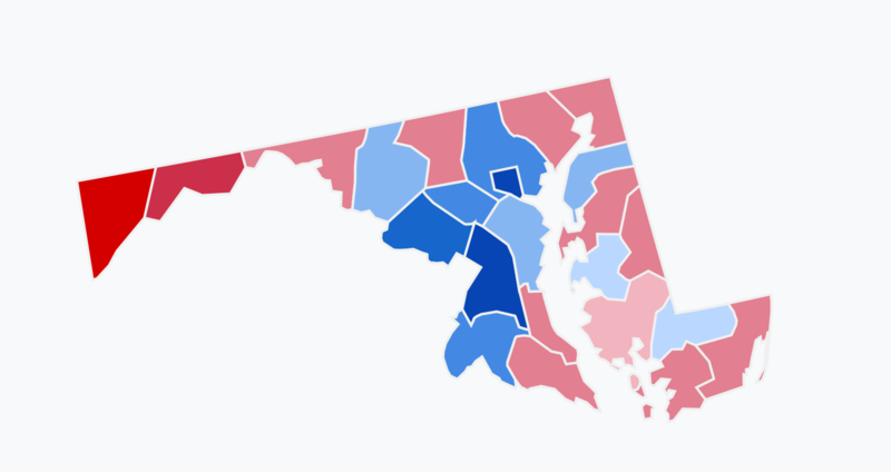 File:Results of the 2018 Senate election in Maryland.png