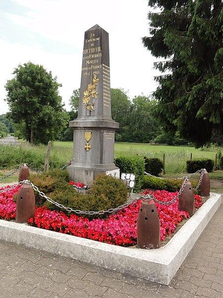 Retheuil (Aisne) monument aux morts