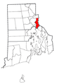 Rhode Island Municipalities East Providence Highlighted.png