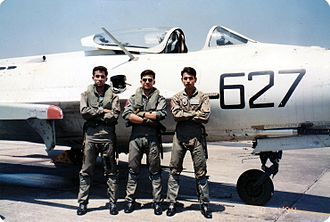 Riaz (actor) - Riaz (middle) with his colleagues of Bangladesh Air Force