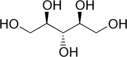 Ribitol structure.png