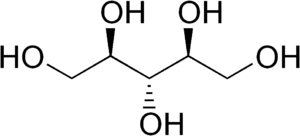 Ribitol - Image: Ribitol structure