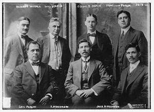 Eliseo Arredondo - Image: Ricardo Vasquez and Eliseo Arredondo and Jose Arredondo a Oscar E. Duplin and Francesco Paredo and Luis Paredo in 1915