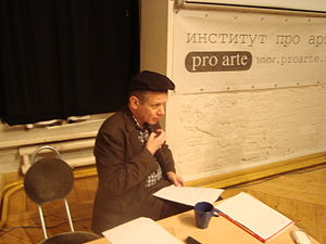 Richard Barbrook - Barbrook delvering a lecture at Pro Arte, Saint Petersburg, Russia, November 2008
