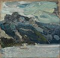 Richard Gerstl - Lake Traun with Mountain Sleeping Greek Woman - Google Art Project.jpg