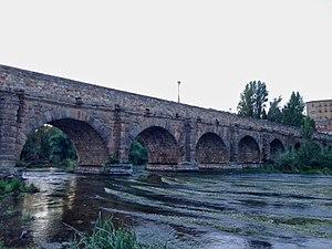Rio Tormes en Salamanca bajo el puente romano.jpg