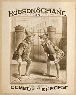 Poster for an 1879 production on Broadway, featuring Stuart Robson and William Crane