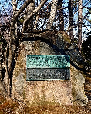 Rock tombstone, Old Ship Burying Ground, Old S...