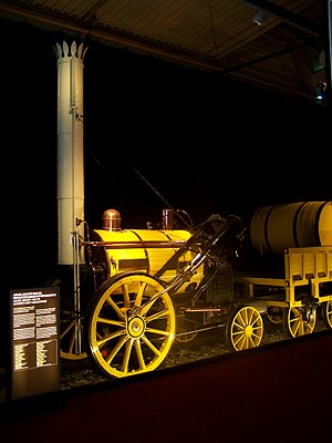 Rainhill Trials - Replica of the Rocket in its original condition in Nuremberg