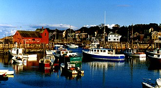 North Shore (Massachusetts) - Fishing boats in the harbor of Rockport, Massachusetts.
