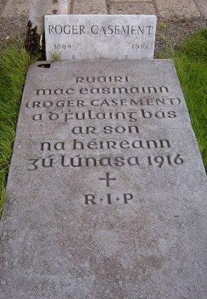 Roger Casement - Roger Casement's grave in Glasnevin Cemetery.