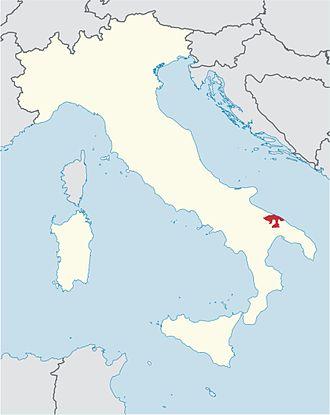 Roman Catholic Archdiocese of Bari-Bitonto - Image: Roman Catholic Diocese of Bari in Italy