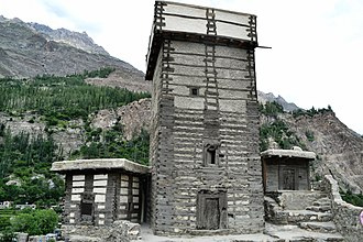 Altit Fort - Rooftop of Altit fort in Hunza Valley