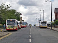 Rossendale Transport buses 171 (HV52 WSO), 51 (YJ54 UXU), 117 (S117 KRN) & 165 (X465 UKS), 14 June 2008.jpg