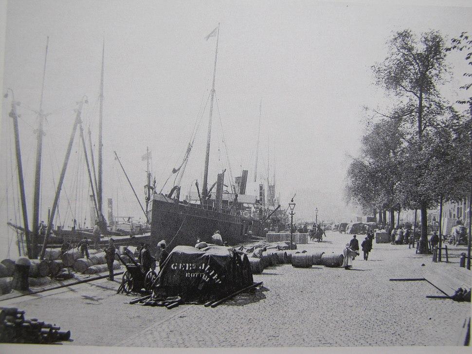 Rotterdam Boompjeskade Foto C.E.Mögle 1899 (GA)