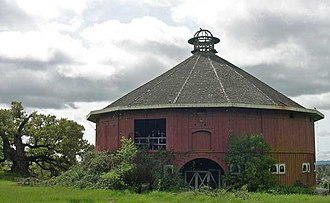 Piner Creek - Historic Round Barn, built in 1899, located in the Piner Creek watershed