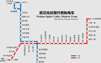Route map of Wuhan Optics Valley Modern Tram.png