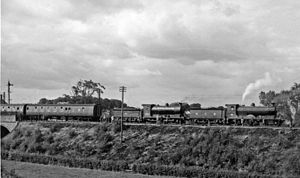 The Kelso and Jedburgh railway branch lines - A rail tour on the line in the Roxburgh area in 1961.