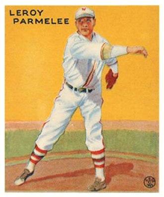 Roy Parmelee - Roy Parmelee 1933 Goudey baseball card