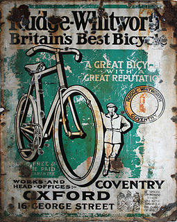 Rudge-Whitworth british bicycle, motorcycle and sports car manufacturer