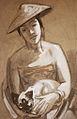 Rudolf Heinisch, Frau mit Katze, 1934.jpg