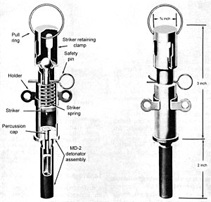 A Russian VPF pull fuze used for booby-trap pu...