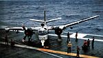 S-2F of VS-21 on USS Kearsarge (CVS-33) 1964.jpg