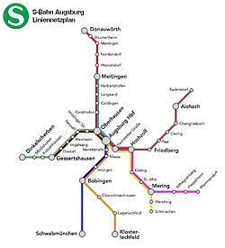 S-Bahn Augsburg Liniennetzplan