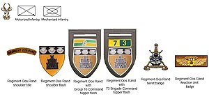 Regiment Oos Rand - SADF era Regiment Oos Rand insignia