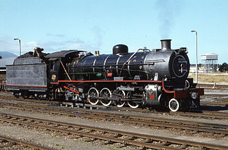 South African type LP tender - Image: SAR Class 14CRB 1766 George 180479