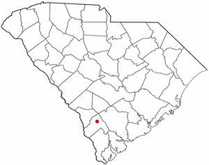 Hampton, South Carolina - Image: SC Map doton Hampton