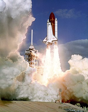 STS-27 - Atlantis launches on STS-27.