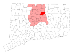 Location of South Windsor within ہارٹفورڈ کاؤنٹی، کنیکٹیکٹ, کنیکٹیکٹ