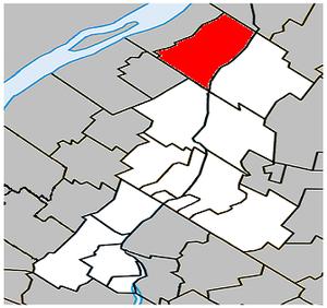 Saint-Antoine-sur-Richelieu - Image: Saint Antoine sur Richelieu Quebec location diagram
