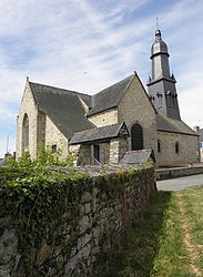 The church of Saint-Georges (fr), in Saint-Georges-de-Chesné