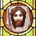 Saint John the Baptist Catholic Church (Dry Ridge, Ohio) - stained glass, Veil of St. Veronica.jpg