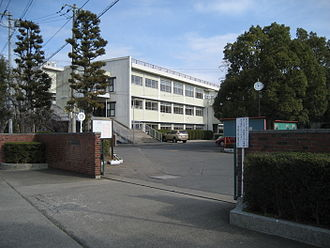 Kita-Sakado Station - The main entrance of Sakado High School