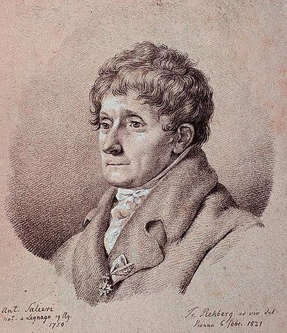 Антонио Сальери, портрет работы Ф. Реберга, 1821 год