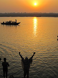 Salutations to the Ganges at sunrise, Varanasi.jpg