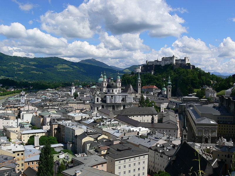 Salzburg, Aussicht vom Mönchsberg Blick über die Altstadt