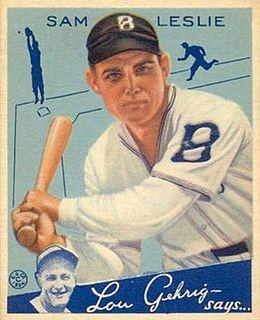 Sam Leslie American baseball player