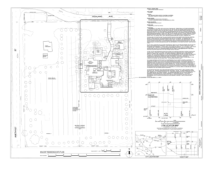 Sam and Alfreda Maloof Compound, 9553 Highland Avenue, Rancho Cucamonga, San Bernardino County, CA HABS CAL,36-RANCU,3- (sheet 1 of 6).png