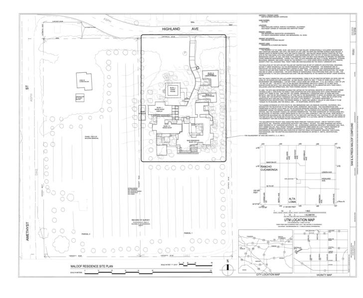 File:Sam and Alfreda Maloof Compound, 9553 Highland Avenue, Rancho Cucamonga, San Bernardino County, CA HABS CAL,36-RANCU,3- (sheet 1 of 6).png