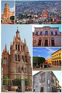 San Miguel de Allende City in Guanajuato, Mexico