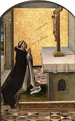 Saint Peter the Martyr praying