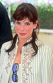 A photograph of Bullock attending the 2002 Cannes Film Festival