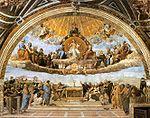Sanzio, Raffaello - Auseinandersetzung um die Eucharistie.jpg